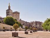 Popes palace avignon — Stock Photo