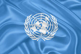 United Nations flag — Stock Photo