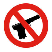 No Guns or Weapons sign — Stock Photo