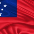 Flag of Samoa — Stock Photo #24212805