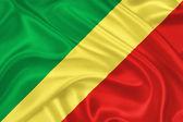 Kongo cumhuriyeti bayrağı — Stok fotoğraf