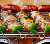 Barbecue on terrace — Stock Photo