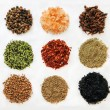 Stock Photo: Variety of spices isolated