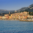 Stock Photo: Provence village of Menton on french Riviera