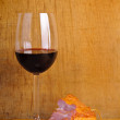Royalty-Free Stock Photo: Red wine and ham
