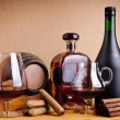 Cognac and cigars — Stock Photo