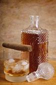 Whisky e charutos — Fotografia Stock