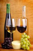 Still life with wine — Stock Photo