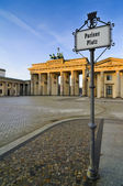 Berlino di Pariser platz — Foto Stock