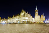 Old and new city hall in wroclaw — Stock Photo