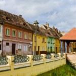 Colored houses in Sibiu, Transylvania — Stock Photo #21296081