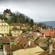 Sighisoara, medieval town in Transylvania - Stock Photo