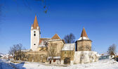 Fortified church in romania — Stock Photo