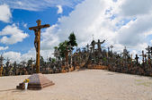 Hill of crosses in Lithuania — Stock Photo