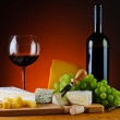 Wine, grapes and cheese — Stock Photo #26116581