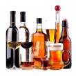 Different alcoholic drinks — Stock Photo