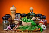 Různé koření a byliny — Stock fotografie