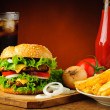 Fast food menu — Stock Photo #31516299