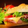 Stock Photo: Sandwich closeup detail