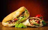 Kebab and shawarma — Stock Photo