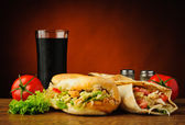 Turkish kebab and shawarma — Stock Photo