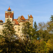 Panorama bran castle, romania — Stock Photo