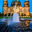 Berlin Cathedral, at dusk — Stock Photo
