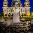 Cathedral in Berlin, Germany, at night — Stock Photo #34842603