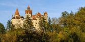 Panorama bran castle, romania — Stock Photo