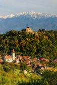 Cisnadioara village in transylvania, romania — Stock Photo