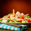 Seafood salad with prawns — Stock Photo