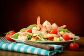 Seafood salad with prawns — Stock fotografie