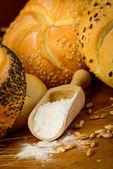 Bread ingredients — Stock Photo