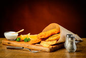 Delicious fish and chips meal — Foto de Stock