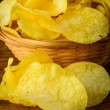Stock Photo: Potato chips closeup