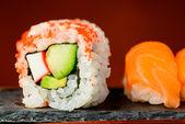 California rolls and nigiri sushi — Stock Photo