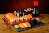 Still life with sushi — Stock Photo