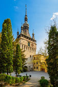 Clock Tower in Sighisoara, Transylvania — Stock Photo