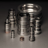 Steel and bronze components — Stock Photo