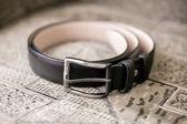 Cintura nera uomo — Foto Stock
