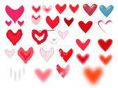 Conjunto de corações vector engraçado — Vetorial Stock
