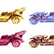 Stock Photo: Set of four vintage cars.