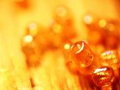 抽象橙色宝石背景 — 图库照片