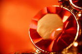 Macro of the ruby ring. — Stock Photo