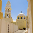 Santorini bell tower - Stock Photo