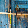 Stock Photo: Old wooden latch