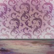 Damask pattern with copy space — Photo