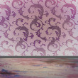 Damask pattern with copy space — Stockfoto