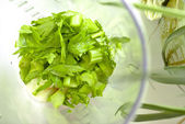 Sliced celery — Stockfoto