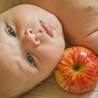 Autumn's baby — Stock Photo